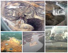 Tar sands mining collage
